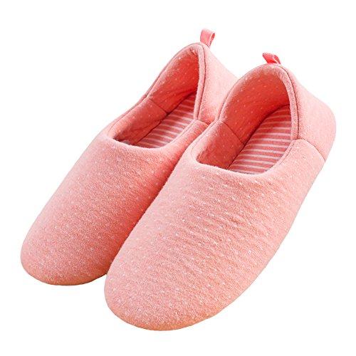 Pantofole Da Casa Morbide Traspiranti In Cotone Traspirante Da Donna Bestfo Arancio Rosa