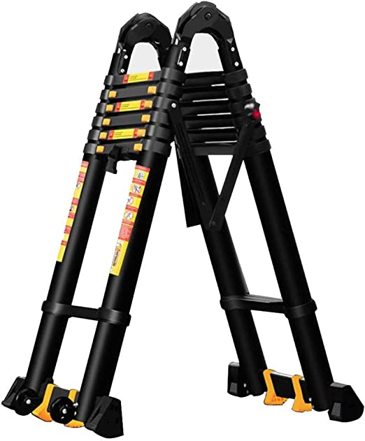 DZWSD Escalera Telescópica escaleras de Aluminio con estabilizador Escaleras livianas Multiusos Escalera de Techo de 150 kg / 330 Libras de Capacidad: Amazon.es: Hogar