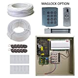 Complete 1 Door Board Package with 12A Power and Maglock, Reader, Battery Backup and Free software!