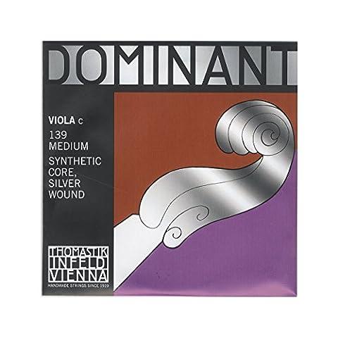 Thomastik-Infeld 139 Dominant Nylon Core Viola String, Medium Gauge, 4/4 Scale, C (Dominant Viola A String)