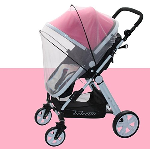 Topwon Universal Full Cover Baby Mosquito Net/Insect Mesh Netting Fits Most Strollers Bassinets, Cradles Chair seat and Car Seats Safe Elastic Design - Black by Topwon (Image #6)