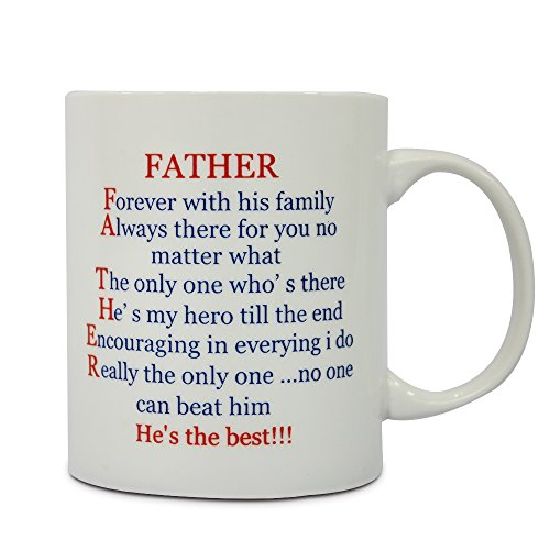 Fathers Day Gifts for Dad Ceramic Funny Coffee Mug Birthday Gift Idea for Grandpa Tea Cup 11 OZ