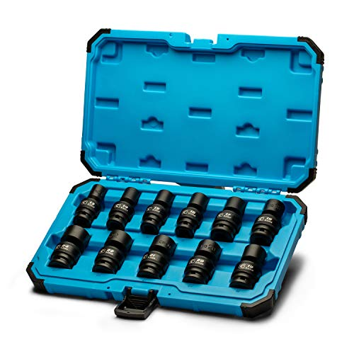 Capri Tools 1/2 in. Drive Universal Impact Socket Set, 13-24 mm Metric, 11-Piece