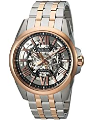 Bulova Mens Automatic Stainless Steel Casual WatchMulti Color (Model: 98A166)