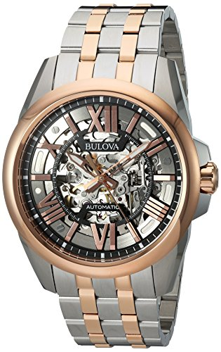 Bulova-Mens-Automatic-Stainless-Steel-Casual-WatchMulti-Color-Model-98A166