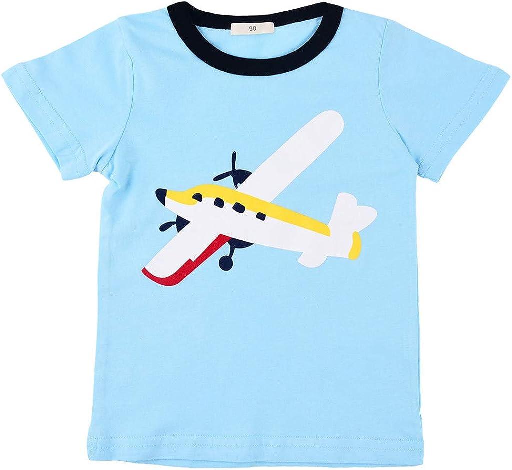 Allence Baby Jungen Outfits Sommer Kleidung Sets Flugzeuge Druck T-Shirt und Streifen Short Hosen 0-4Jahre