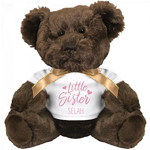Little Sister Selah Gift Bear: Small Teddy Bear Stuffed (Little Brother Teddy Bear)
