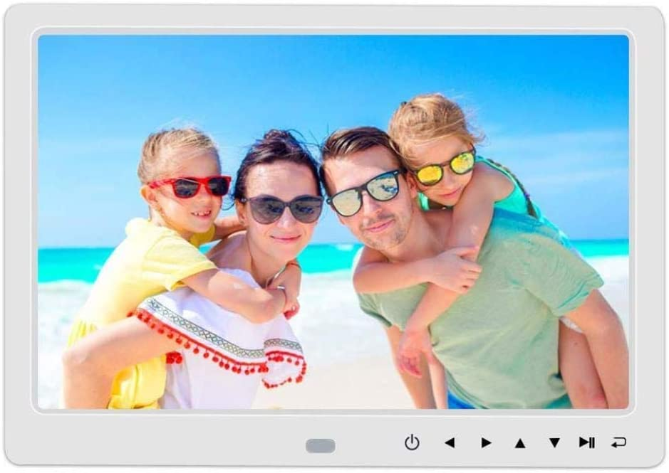 1080P Video BYBYC Digital Photo Frame 17 Inch Display Photos Digital Picture Frame with HD LED Degree Wide Viewing Angle with Remote Control White