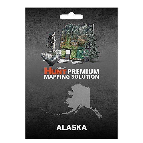 onXmaps HUNT Alaska: Digital Hunting Map For Garmin GPS + Premium Membership For Smartphone and Computer - Color Coded Land Ownership - 24k Topo - Hunting Specific Data