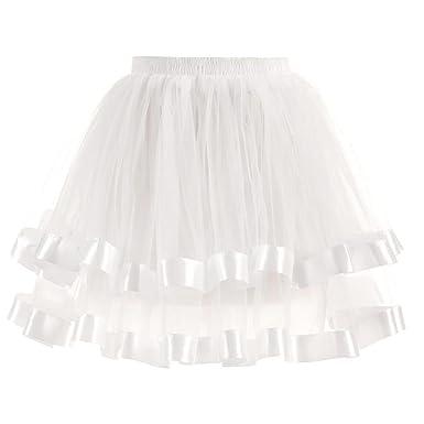 1712dfa11268f3 FNKDOR Jupon Femme Style année 50 Jupon Tutu Vintage en Tulle ...