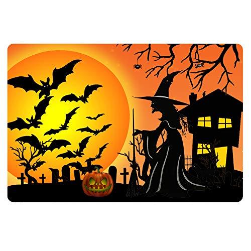 Salabomia Doormat Kitchen Floor Runner Floor Mat Witch Halloween Pumpkin Design Entry Rugs Home Decor Carpet from Salabomia