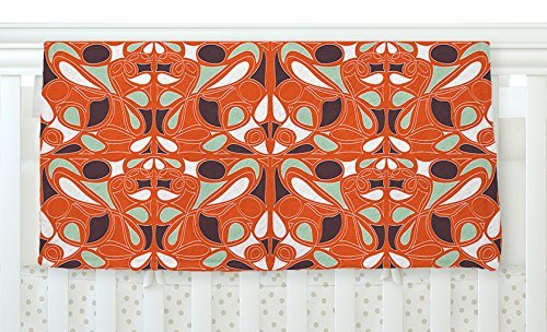 KESS InHouse Miranda Mol Orange Swirl Kiss Fleece Baby Blanket 40 x 30 [並行輸入品]   B077ZK792Z