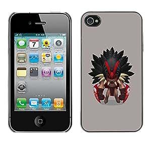 LASTONE PHONE CASE / Carcasa Funda Prima Delgada SLIM Casa Carcasa Funda Case Bandera Cover Armor Shell para Apple Iphone 4 / 4S / Aztec Warrior