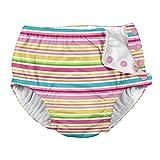 Snap Reusable Absorbent Swimsuit Diaper-Pink