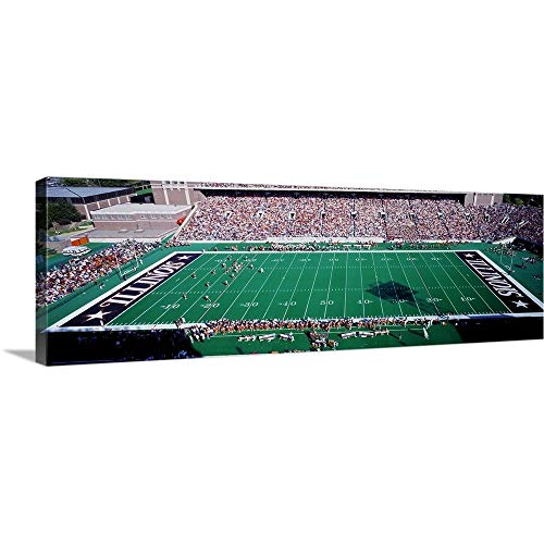 - GREATBIGCANVAS Gallery-Wrapped Canvas Entitled Illinois, Champaign, Memorial Stadium by 60