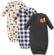 Hudson baby Unisex Baby Fleece Gowns, Forest, 0-6 Months