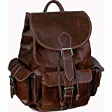 AmeriLeather Vacationer Jumbo Leather Backpack (Brown Python)