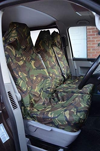 Mr E Saver Renault Trafic 2001 Heavy Duty Waterproof Camo Camouflage Van Seat Covers Military Green