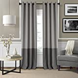 Elrene Home Fashions Braiden Room Darkening Window Panel 52-Inch by 95-Inch, Gray, Set of 4 For Sale