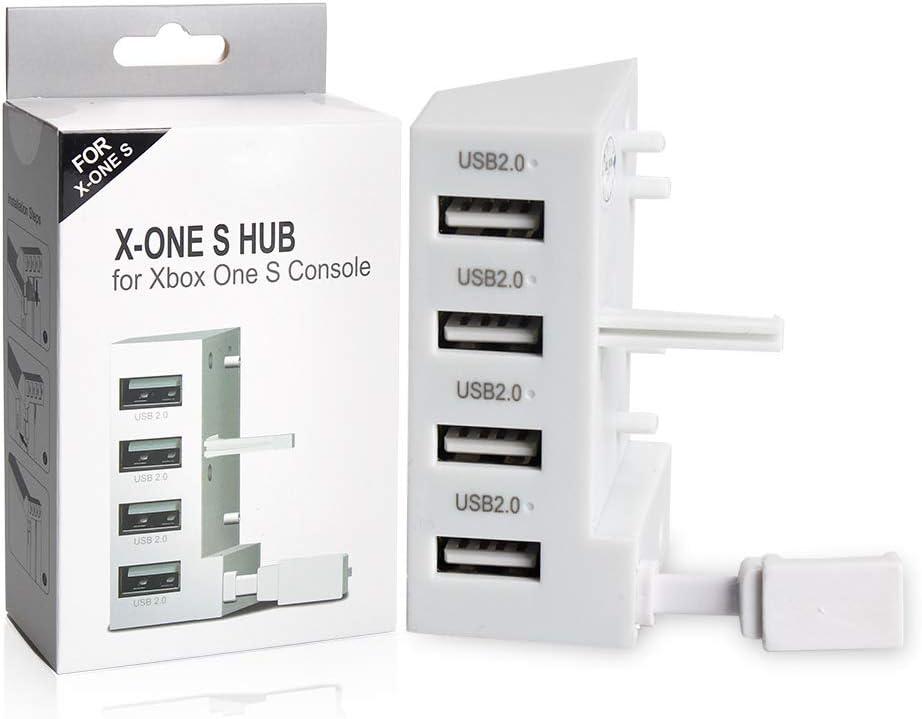 Concentrador USB para Consola Xbox One S, VSEER 4 Puertos USB 2.0 ...