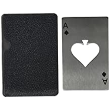SODIAL(R) Playing Card Ace of Spades Poker Bar Tool Soda Stainless Steal Beer Bottle Cap Opener