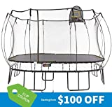 Springfree Trampoline - 13ft Jumbo Square with Basketball Hoop, Ladder, tgoma