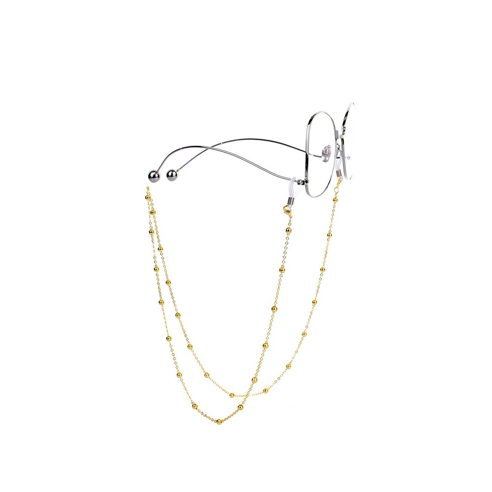 Freedi Metal Eyeglass Chain Retro Beaded Spectacles Sunglasses Cord Neck Strap Glasses Retainer For Womens