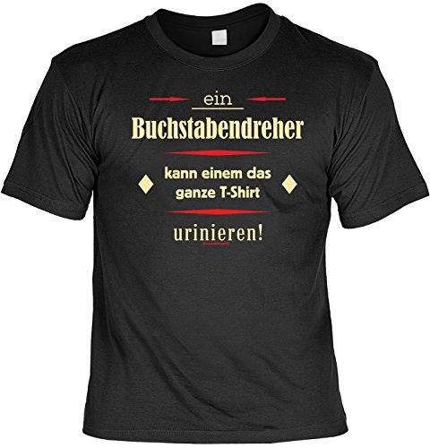 T-Shirt mit Wunschname - Buchstabendreher - T-Shirt uriniert - Lustiges Sprüche Shirt als Geschenk für Spaßvögel mit Humor - NEU mit persönlichem Namen