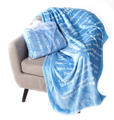 BlankieGram Healing Thoughts Blanket (Blue)