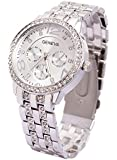 Alloy Band Quartz Watch Classic Unisex Crystal Wrist Watch