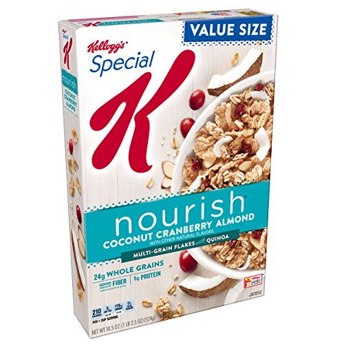 Kellogg's Special K Nourish Coconut Cranberry Almond Cereal, 18.5 oz(Pack of ()