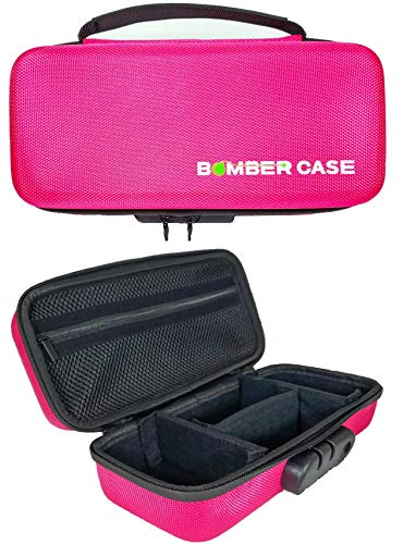 "Price comparison product image BOMBER CASE - Stash Case - Locking - Smell Proof – Customizable Padded Interior - Holds up to 9.5"" x 4"" - Soft Sides with Odor Proof Zipper and Combination Lock - No Smell - Safe Box Container - Pink"