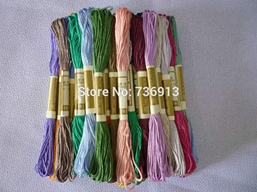 - Maslin All Different Colors Cross Stitch Floss Thread Yarn / 100% Pure Cotton / 1 lot=100 Pieces