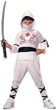 Rubies - Disfraz de ninja para niños, color blanco, 5-7 años ...