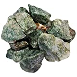 Hypnotic Gems Materials: 18 lb Bulk Rough Green Rutile Stones from India - Raw Natural Crystals and Rocks for Cabbing, Lapidary, Tumbling, Polishing, Wire Wrapping, Wicca and Reiki Crystal Healing
