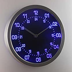 nc0705-b 24 Hour Military World Time Zone Amateur Neon Sign LED Wall Clock