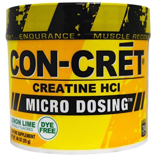 Con-Cret, Creatine HCI, Micro-Dosing, Lemon Lime, .88 oz (25 g) - 3PC by CON-CRET