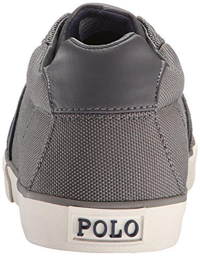 Polo Ralph Lauren Hugh Pique Nylon Fashion Sneaker Charcoal Grey y3nTnalohZ
