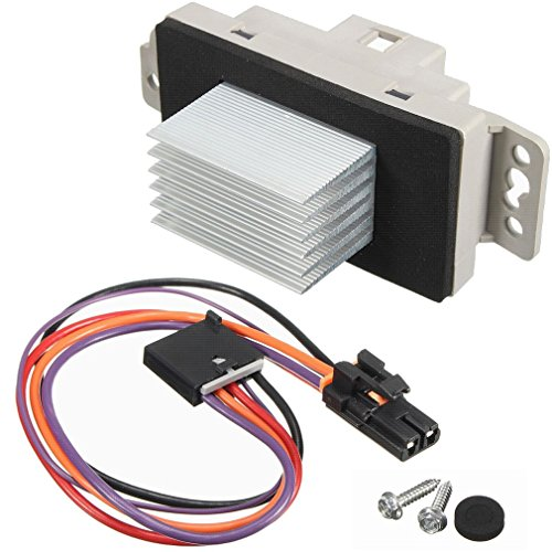 (HVAC Fan Blower Motor Resistor Kit With Harness Replaces # 1581773 89018778 15-81773 for Chevy Silverado Tahoe Trailblazer Suburban Avalanche GMC Sierra Envoy Yukon Buick Cadillac Escalade & more)