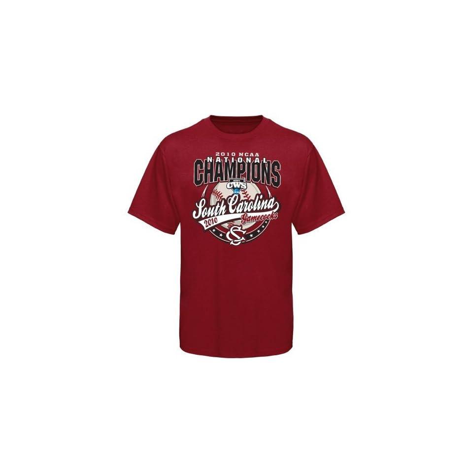 South Carolina Gamecocks Garnet 2010 NCAA Mens College World Series Champions Baseball T shirt