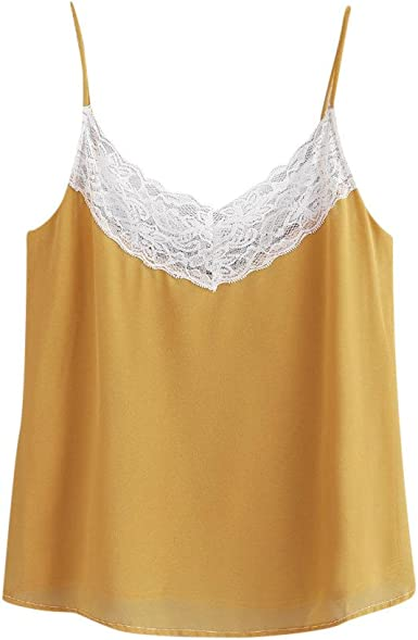 Lace-Up Summer Vest Blouse Cami Tunic Summer Womens Tank Tee Top Blouse Lace
