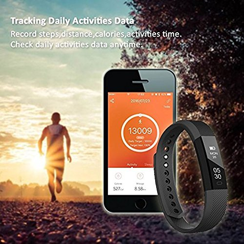 Fitness Tracker, Activity Smart Wristband, Sleep Monitor, Steps/Calorie and Distance Counter Pedometer for Android or IOS Phone, Bluetooth Bracelet gifts for Kids Women Men by Welsun (Image #2)