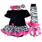 Baby Girls 4PCS Bodysuit Dress Sets S:0-3Months
