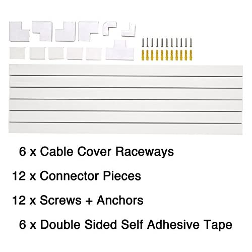 lovely Cable Concealer On-Wall Cord Cover Raceway Kit - Cable ...