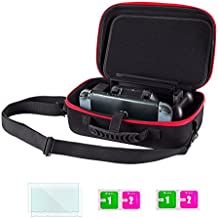 Mebarra Traveler Case with Screen Protector for Nintendo Switch,Portable Carry-all Hard Storage Case with Detachable Shoulder Strap(19 Game Cartridge) For Switch Console &Accessories, (Red/Black)