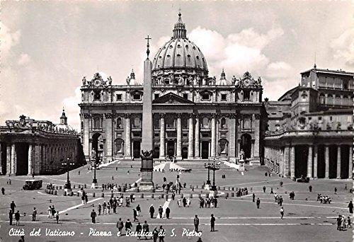 (Citta del Vaticano Piazza e Basilica di S Pietro Italy Postcard)