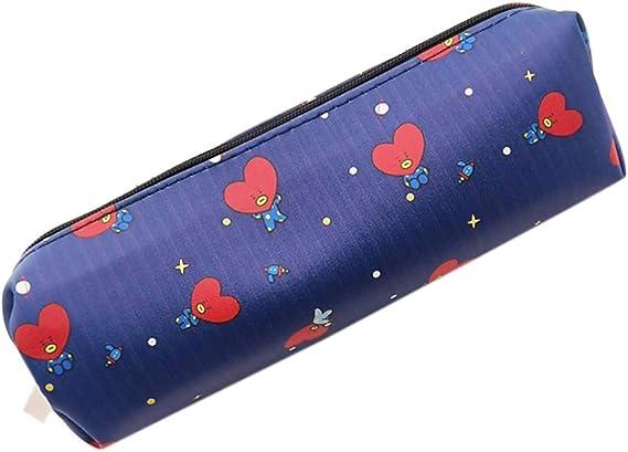 GOTH Perhk Kpop BTS - Estuche de piel sintética para lápices, bolígrafos, lápices y marcadores TATA: Amazon.es: Hogar