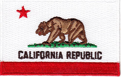 CALIFORNIA STATE FLAG/Iron On Embroidered Patch /Flag of Cal