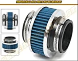 "HPP Cold Air Intake ByPass Valve Filter 3"" 76mm (in Blue) 2010-1988 Cadillac: Allante, Brougham, DeVille, Eldorado, Seville, Cimarron, 60 Special, Escalade, Catera, 	CTS, SRX, STS, XLR, DTS"