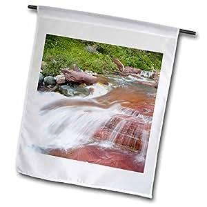 Danita Delimont - Montana - Red rock, Baring Creek, Glacier NP, Montana - US27 CHA0870 - Chuck Haney - 18 x 27 inch Garden Flag (fl_91647_2)